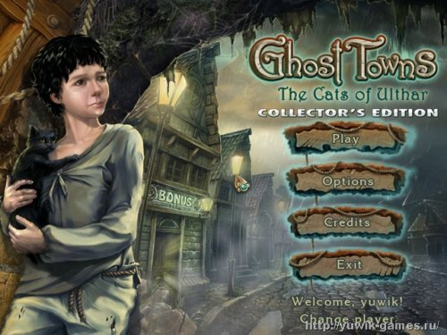 Ghost  Towns:  The  Cats  Of  Ulthar  Collector's  Edition  +  Прохождение  игры  (Rus)  (2012,  Big  Fish  Games,  Eng)